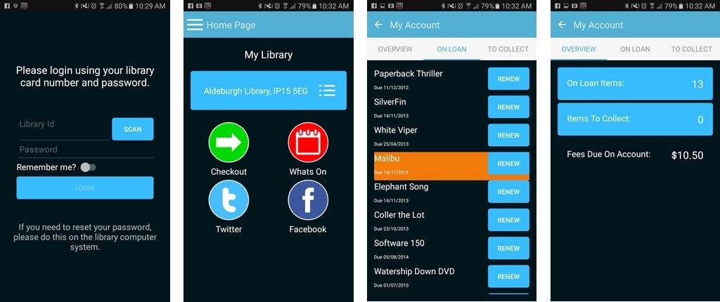 D-Tech Library App Screen Shots
