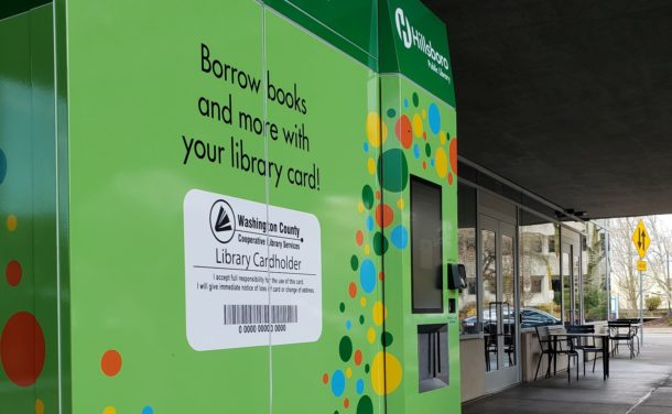 lendIT book vending machine at Hillsboro