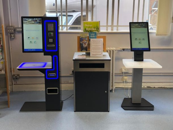 new serveIT library self service units at Plumstead Road