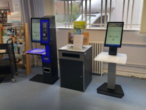 serveIT library self service units at Plumstead Road