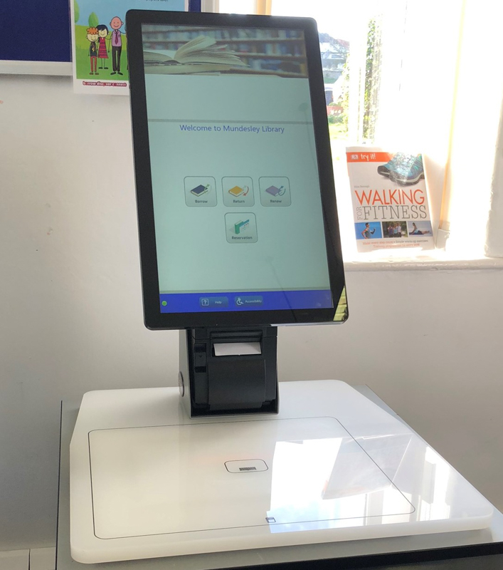 serveIT TOLKIEN library self service checkout kiosk