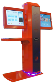 small Jet - red double screen
